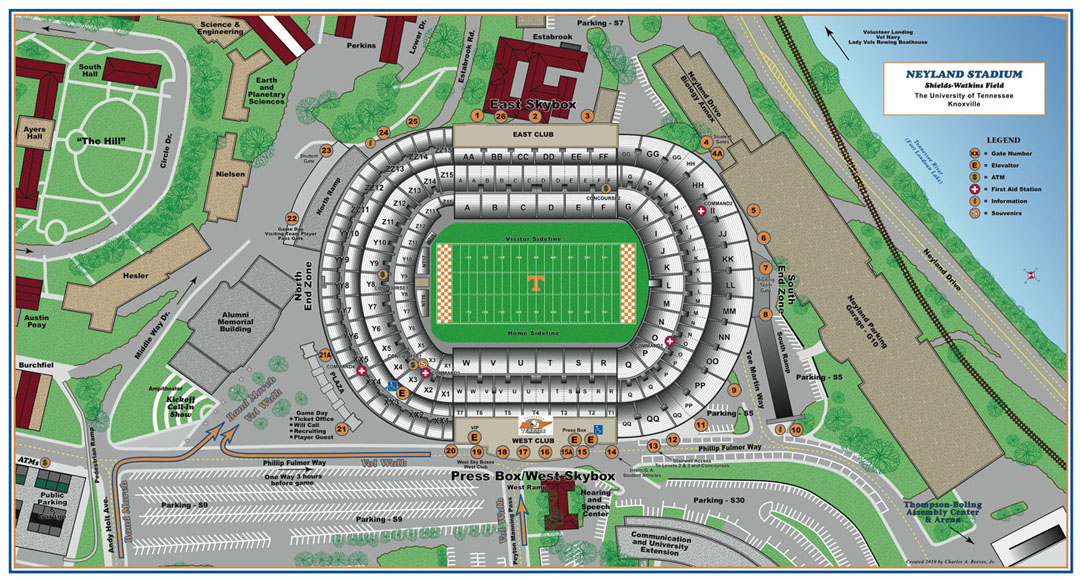 University Of Tennessee Knoxville Campus Map.Custom Graphics Charles A Reeves Jr