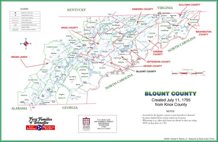 Map Catalog Charles A Reeves Jr - Map of counties in tennessee