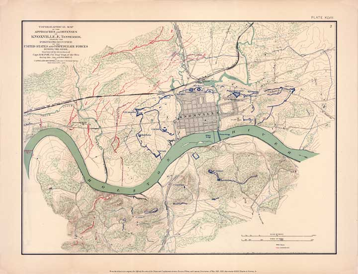 civil war map. the map from the Civil War